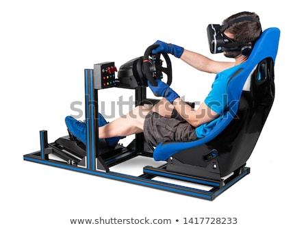 computador · volante · isolado · branco · tecnologia · esportes - foto stock © mikko