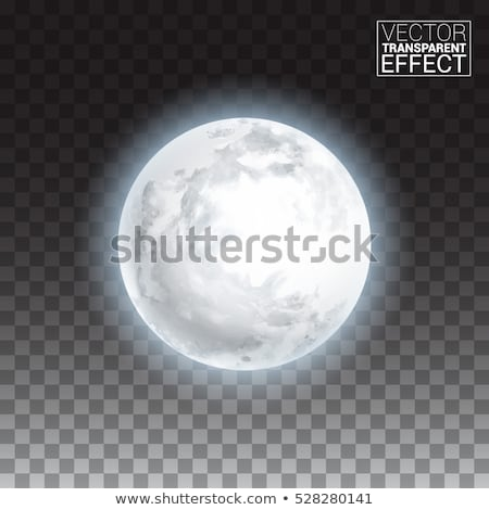 Realistic shining full moon in the dark blue sky Stock photo © Fosin