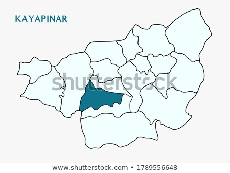 Map of Diyarbakir -  Kayapinar is pulled out Stock photo © Istanbul2009