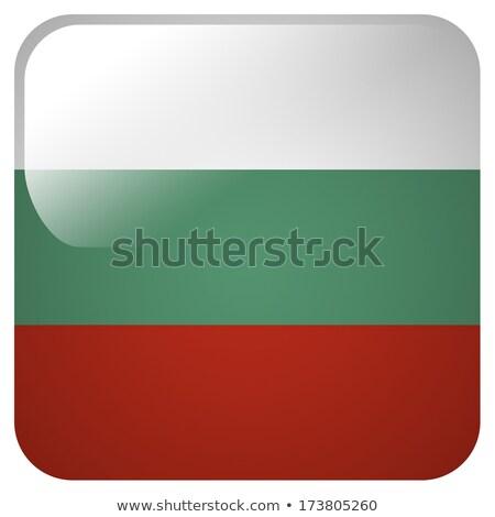 Vierkante icon vlag Bulgarije 3d illustration geïsoleerd Stockfoto © MikhailMishchenko