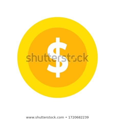 Signe du dollar argent couleur signe lettre marketing Photo stock © bluering