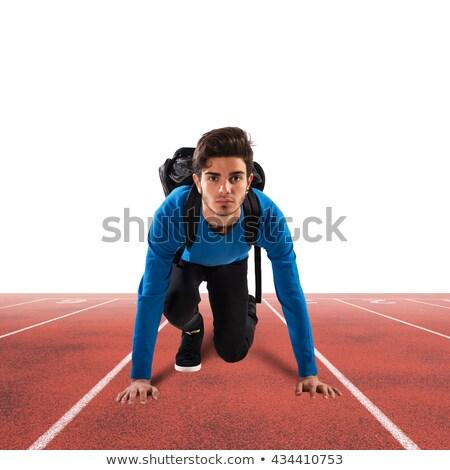 başlatmak · genç · erkek · sırt · çantası · hazır · yol - stok fotoğraf © alphaspirit