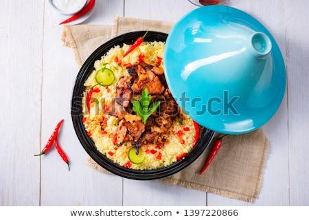 Pollo cuscús pollo asado mama servido queso azul Foto stock © Digifoodstock
