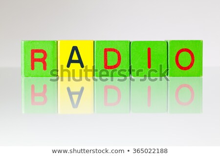 Radio - an inscription from children's blocks Stock photo © CaptureLight
