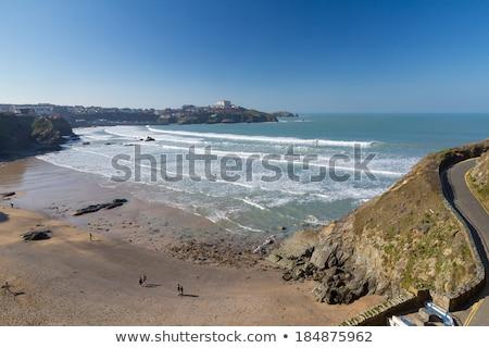 Muhteşem batı plaj cornwall mavi güneş Stok fotoğraf © latent