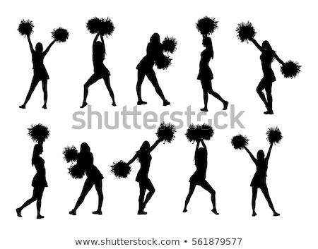énergique cheerleader blanche sourire danse fond Photo stock © bluering