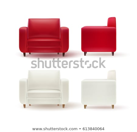 Fauteuil blanche cuir illustration bois fond Photo stock © bluering