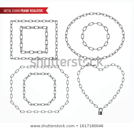 Hearts in locks, keys and chains, icon set concept Stock photo © adrian_n