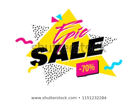 abstract style creative sale voucher design template Stock photo © SArts