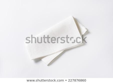 összehajtva fehér szalvéta ruha Stock fotó © Digifoodstock