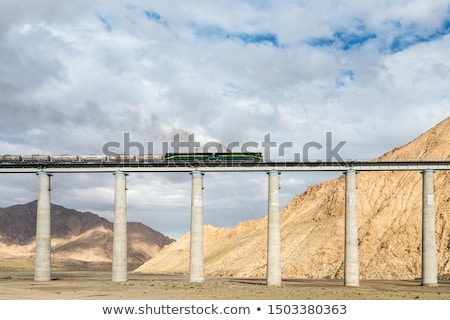Ferrovia ponte tibete paisagem famoso Foto stock © bbbar