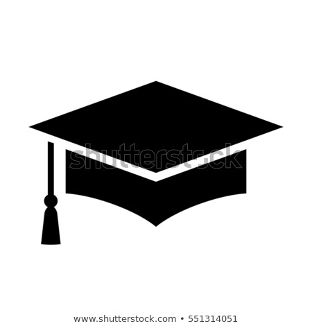 Mortarboard icon on a white background Stock photo © Imaagio