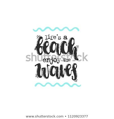Summer time vector alphabet. Hand drawn letters. Summer beach pa Stock photo © pashabo