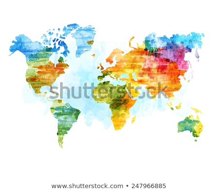 Dibujo mapa del mundo blanco papel pincel gris Foto stock © romvo