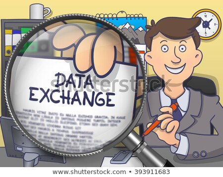 data exchange through lens doodle concept stock photo © tashatuvango