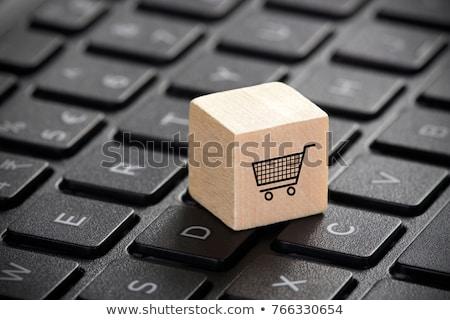 インターネットショッピング キーボード キー 3D 現代 黄色 ストックフォト © tashatuvango
