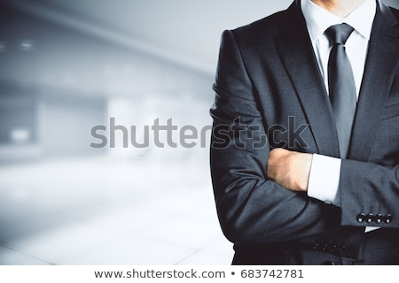 Caucasian confident businessman with folded arms. Stock photo © RAStudio