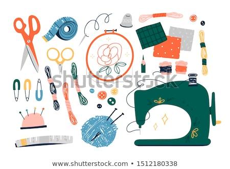 Coser elementos colorido ilustración diferente herramientas Foto stock © lenm