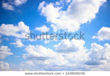 Foto stock: Nublado · nuvens · forma · letra · i · céu