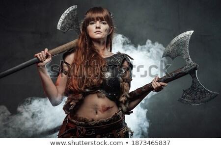 Beleza retrato furioso marrom mulher Foto stock © deandrobot