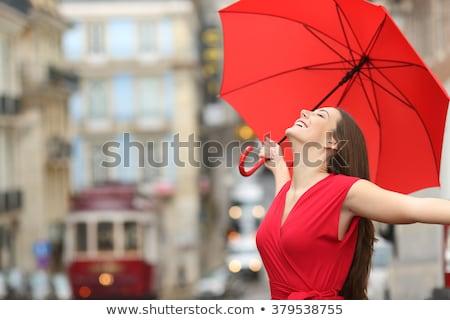blanco · sentimiento · curiosidad · belleza · retrato · funny - foto stock © is2