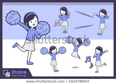 2tone type blue clothes headband girlset 07 stock photo © toyotoyo
