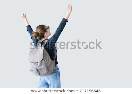 étudiant · adolescent · femme · heureux · sourire · école - photo stock © CandyboxPhoto