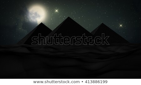 Pyramids at night scene Stock photo © bluering