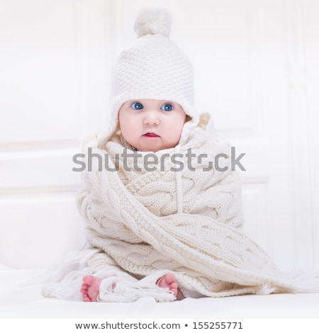Adorable newborn baby with huge blue eyes Stock photo © Giulio_Fornasar