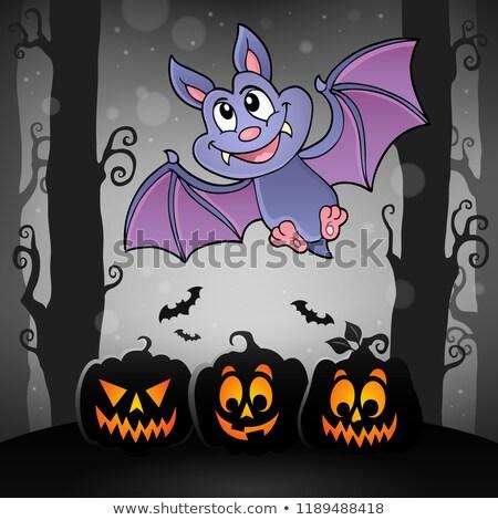 Desenho animado bat tópico imagem árvore cara Foto stock © clairev