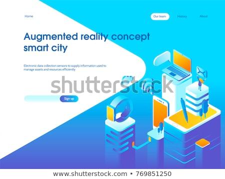 Global internet coisas inteligente cidade aplicativo Foto stock © RAStudio