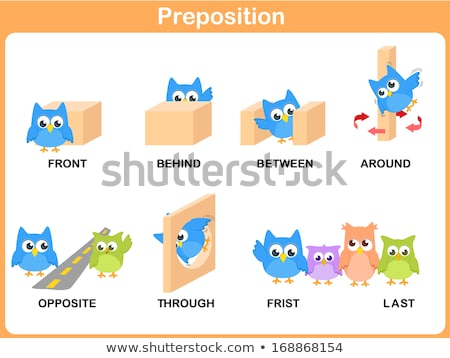 Spell English word box Stock photo © bluering