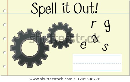 Spell English word gears Stock photo © bluering