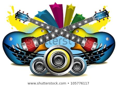 guitarra · dois · música · mão · fundo · rocha - foto stock © robuart