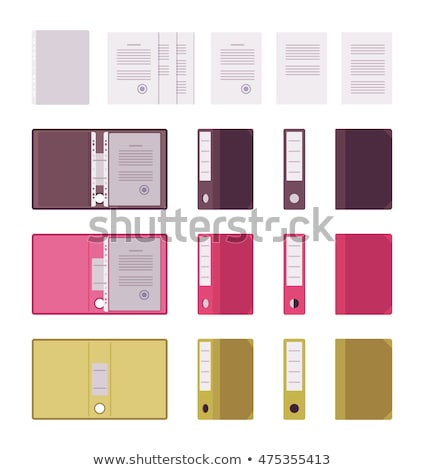 File folders with a tab labeled Certification Stock photo © Zerbor