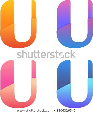 List Fioletowy Wektora Logo Projektu Ilustracja