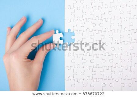 Stukken puzzel onderwijs spel kinderen volwassenen Stockfoto © Olena