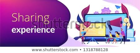 Marketing meetup concept vector illustration. Stock photo © RAStudio