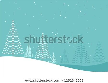 Mínimo creativa invierno árbol de navidad diseno paisaje Foto stock © SArts
