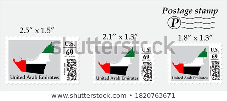 Flag icon design for Arab Emirates in different shapes Stock photo © colematt
