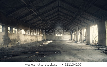 Empty room of abandoned building Stock photo © lovleah