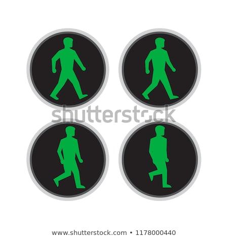 vert · trafic · signal · lumière · signe · ciel · bleu - photo stock © patrimonio
