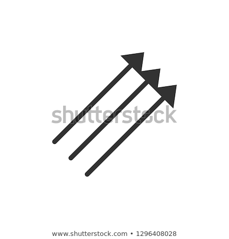 Three Parallel Vertical Arrows in black color Pointing up 45 degrees. vector illustration isolated o Stock photo © kyryloff
