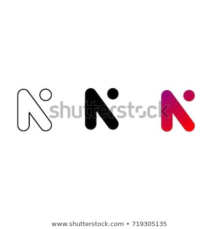 logo n icon letter symbol purple vector Stock photo © blaskorizov