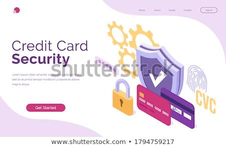Finansowych lądowanie strona hacker laptop oszustwo Zdjęcia stock © RAStudio