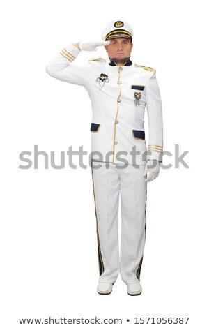 船乗り 白 ユニフォーム 実例 作業 背景 ストックフォト © colematt
