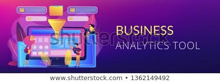 бизнеса интеллект приборная панель баннер экране компьютера Сток-фото © RAStudio