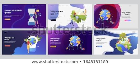 zandloper · grafisch · ontwerp · sjabloon · vector · geïsoleerd · illustratie - stockfoto © haris99
