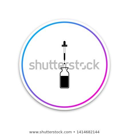 Cseppentő kör ikon hosszú árnyék gyógyszer Stock fotó © Anna_leni