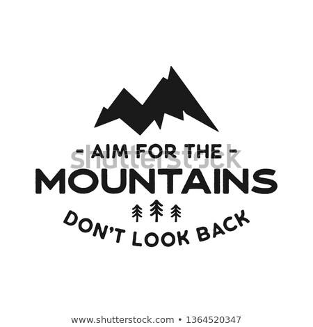 hegy · kaland · kitűző · embléma · hegymászás · grafikai · tervezés - stock fotó © jeksongraphics